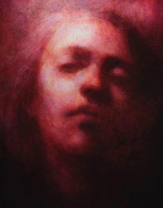 "Maya Kulenovic: ANAESTHESIA II / FUGUE, oil on canvas, 58"" x 45"", 2012 (147cm x 114cm). 'Faces' Series."