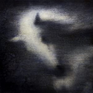 "Maya Kulenovic: BOREAS, 2011-2012, oil on canvas, 34"" x 34"" (86.5cm x 86.5cm)."