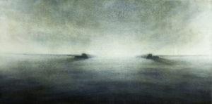 "Maya Kulenovic: BREAKWATER, 2012, oil on canvas, 26"" x 40"" (66cm x 102cm). 'Build' Series."
