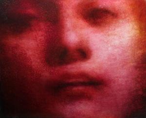 "Maya Kulenovic: DELIRIUM, 2016, oil on canvas, 41"" x 49"" (104cm x 124.5cm). 'Faces' Series."