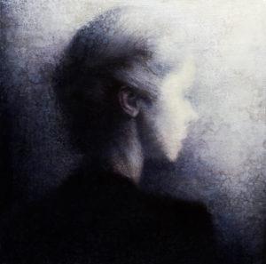 "Maya Kulenovic: DREAM / CATHERINE 2011- 2012, oil on canvas, 24"" x 24"" (61cm x 61cm). 'Faces' Series."