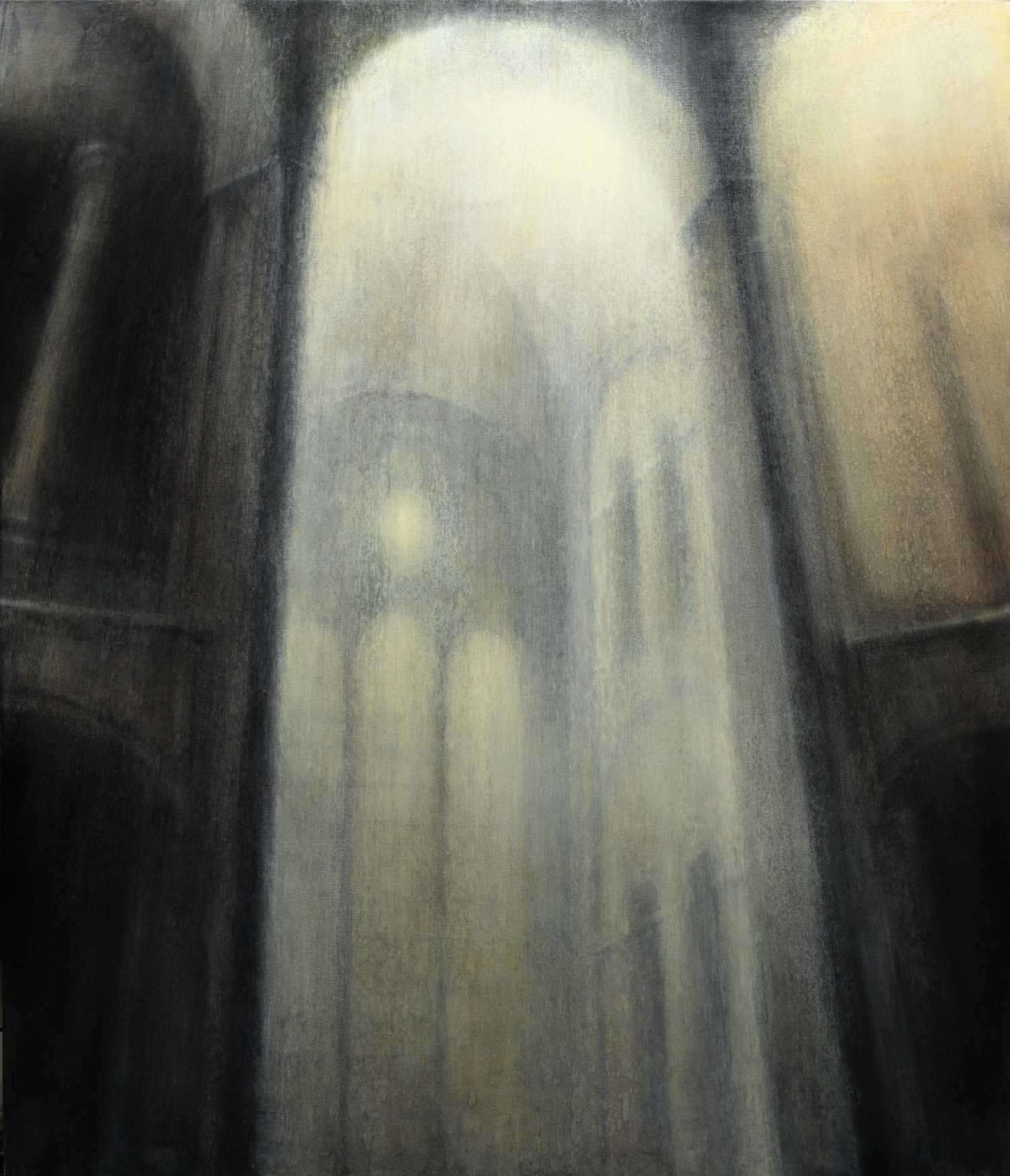 "Maya Kulenovic: EAST CHAMBER, 2019, oil on canvas, 68"" x 57"" (173cm x 145cm)"