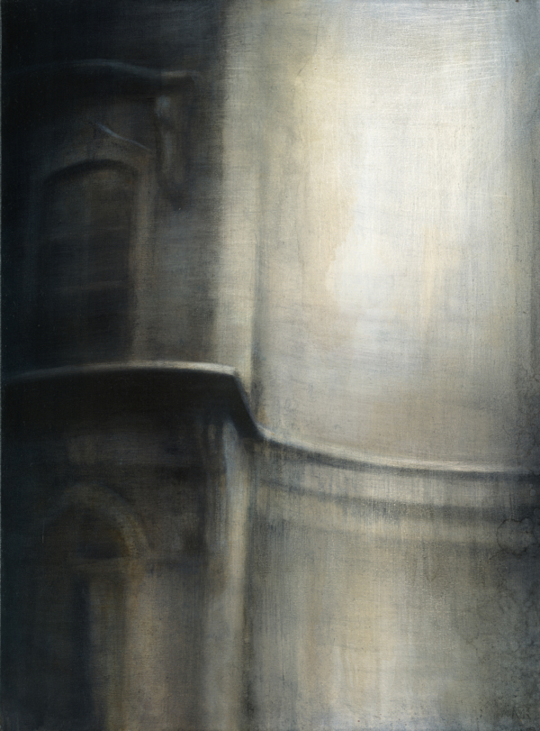 "Maya Kulenovic: EUROPA, 2013, oil on canvas, 40"" x 30"" (102cm x 76cm). 'Build' Series."
