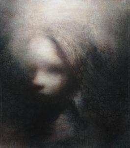 "Maya Kulenovic: EVE, 2012, oil on canvas, 26"" x 23"" (66cm x 58.5cm). 'Faces' Series."