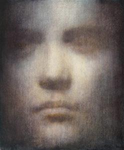 "Maya Kulenovic: GANYMEDE, 2016, oil on canvas, 36"" x 30"" (91.5cm x 76.2cm). 'Faces' Series."