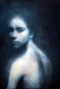 "Maya Kulenovic: GLASS, 2012, oil on canvas, 38"" x 26"" (96.5cm x 66cm). 'Faces' Series."