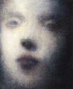 "Maya Kulenovic: GRACE, 2011- 2012, oil on canvas, 22"" x 18"" (56cm x 46cm). 'Faces' Series."