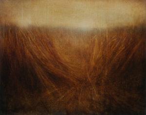 "Maya Kulenovic: GRASSLANDS / PARTITION 2016, oil on canvas, 40.5"" x 32.5"" (103cm x 83cm). 'Land' Series; 'Grasslands' Series.a"