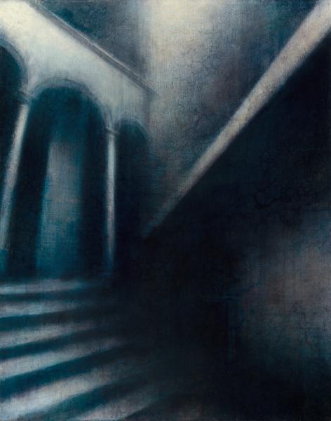 "Maya Kulenovic: INTERLUDE, 2012, oil on canvas, 26"" x 23"" (66cm x 58cm). 'Build' Series."