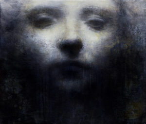 "Maya Kulenovic: NEBULA, 2011 - 2012, oil on canvas, 27"" x 23"" (69cm x 58.5cm). 'Faces' Series."
