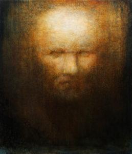 "Maya Kulenovic: TITUS 2015, oil on canvas, 36.5"" x 31"" (93cm x 79cm). 'Faces' Series"