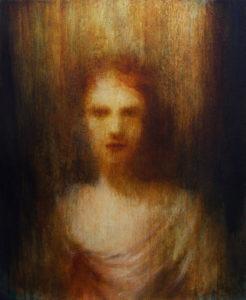 "Maya Kulenovic: PYRA, 2018, oil on canvas, 35"" x 28"" (89cm x 71cm)"