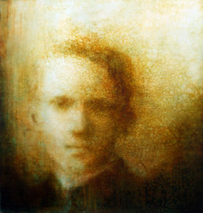 "Maya Kulenovic: DISPATCHES, 2016, oil on canvas, 51"" x 48"" (130cm x 122cm). 'Faces' Series."
