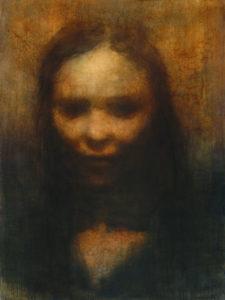 "Maya Kulenovic: RENAISSANCE, 2013, oil on canvas, 48"" x 36"" (122cm x 91.5cm). 'Faces' Series."