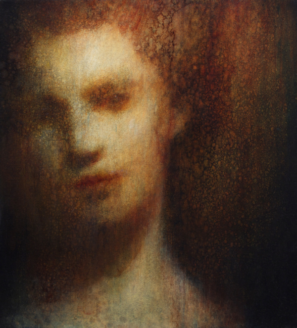 Maya Kulenovic: VIENNA, 2018. Oil on canvas, 'Faces' series; 'Aristocrats' series; damaged portraits.