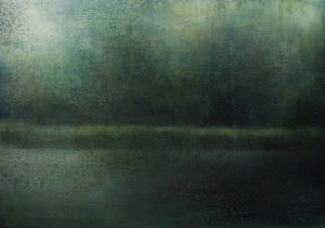 "Maya Kulenovic: WETLANDS / CELADON, 2016, oil on canvas, 39"" x 53"" (99cm x 134.5cm). 'Land' Series; 'Wetlands' Series."