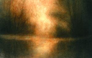 "Maya Kulenovic: WETLANDS / INFERNO, 2013, oil on canvas, 63"" x 40"" (160cm x 102cm). 'Land' Series."