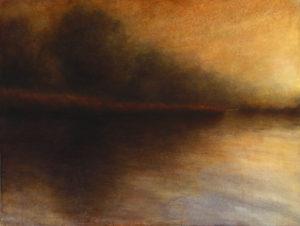 "Maya Kulenovic: WETLANDS / LEDA, 2013, oil on canvas, 33"" x 44"" (84cm x 112cm). 'Land' Series."