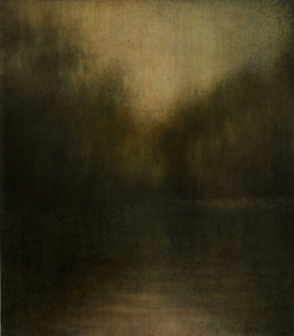 "Maya Kulenovic: WETLANDS / QUIESCENCE, 2013, oil on canvas, 32"" x 28"" (81cm x 71cm). 'Land' Series."