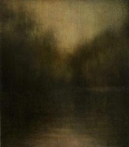 "Maya Kulenovic: WETLANDS / QUIESCENCE, 2013, oil on canvas, 32"" x 28"" (81cm x 71cm). 'Land' Series."