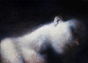 "Maya Kulenovic: WHISPER, 2012, oil on canvas, 38"" x 28"" (96.5cm x 71cm). 'Faces' Series."