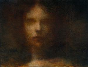 "Maya Kulenovic: CAMEO, 2014, oil on cavas, 37"" x 48"" (94cm x 122cm).'Faces' Series."