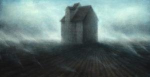 "Maya Kulenovic: FARMLAND, 2018, oil on canvas, 46"" x 89"" (116cm x 226cm)"