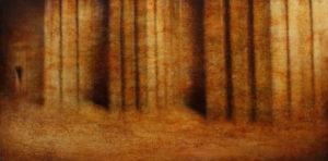 "Maya Kulenovic: FORTRESS 2015, oil on canvas, 31"" x 61"" (79cm x 155cm). 'Build' Series."