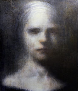 """Maya Kulenovic: LADY OF PASSING 2011, oil on canvas, 29"""" x 25"""" (74cm x 63.5cm). 'Faces' Series."""