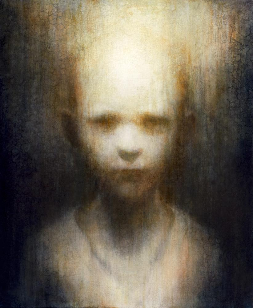 "Maya Kulenovic: Archive; LITTLE MAN, 2012, oil on canvas, 34"" x 28"""