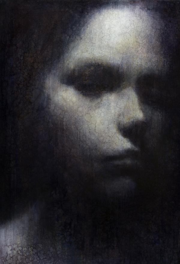 "Maya Kulenovic: MNEMOSYNE, 2012, oil on canvas, 38.5"" x 26.5"" (98cm x 67cm). 'Faces' Series."