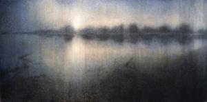 "Maya Kulenovic: RESERVOIR, 2016, oil on canvas, 31"" x 60"" (79cm x 152.5cm). 'Land' Series."