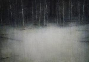"Maya Kulenovic: WOLF 2015-16, oil on canvas, 31"" x 41"" (79cm x 104cm). 'Land' Series."