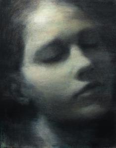 "Maya Kulenovic: DRIFT, 2019, oil on canvas, 45.5"" x 36 (115.5cm x 91.5cm). 'Faces' Series."