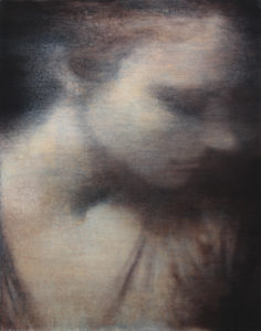 "Maya Kulenovic: VIEW OF LAUREN I, 2019, oil on canvas, 35.5"" x 28"" (90cm x 71cm). 'Faces' Series."